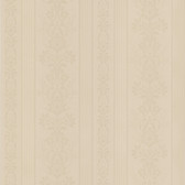 Simply Satin VI Kensington Damask Stripe Sepia Wallpaper 990-65096
