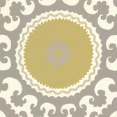 Suzani Modern Medallion Pear Wallpaper 314000