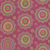 Suzani Ethnic Medallion Magenta Wallpaper 314010