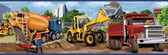 Elbow Grease Heavy Machinery Portrait Blue Border Wallpaper TOT46461B