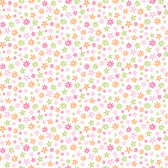 Delilah Mod Flower Toss Pink-Orange Wallpaper TOT47121