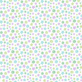 Delilah Mod Flower Toss Purple-Green Wallpaper TOT47122