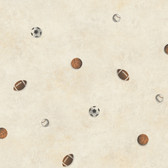 Chesapeake Sports Balls Toss Hazelwood Wallpaper TOT47191