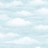 Daydreamer Clouds Faux Effects Light Blue Wallpaper TOT47601