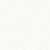 Mia Faux Zebra Stripes White Wallpaper TOT95508