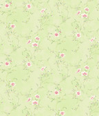 Capri Mint Floral Scroll