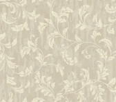 Weatherby Woods Stucco Scroll Wallpaper Cream/Gray/Beige