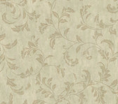 Weatherby Woods Stucco Scroll Wallpaper Green/Seafoam/Golden Brown