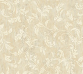 Weatherby Woods Stucco Scroll Wallpaper Vanilla/Tan/Chalk White