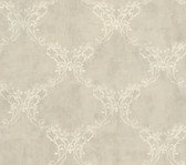 Weatherby Woods Laser Cut Ogee Wallpaper Silver Gray/Golden/Crme
