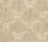 Weatherby Woods Laser Cut Ogee Wallpaper Neutral/Rose Pearl/White