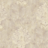 Weatherby Woods Sophisticated Medallion Wallpaper Lavender/Beige/Crme