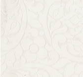 Cascada Cream Flocked Medallion 352000 Wallpaper