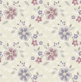 Chloe Purple Floral  2657-22203 Wallpaper