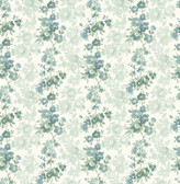 Charlise Teal Floral Stripe  2657-22253 Wallpaper