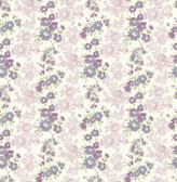 Charlise Plum Floral Stripe  2657-22255 Wallpaper