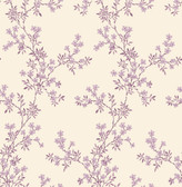 Claire Purple Floral Trail  2657-22264 Wallpaper
