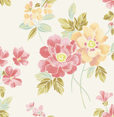 A-Street Prints Claressa Apricot Floral