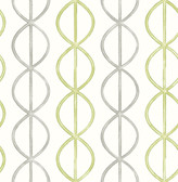 A-Street Prints Banning Stripe Green Geometric