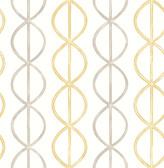 A-Street Prints Banning Stripe Honey Geometric
