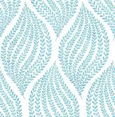A-Street Prints Arboretum Aqua Fern