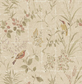 Imperial Beige Garden Chinoiserie  wallpaper