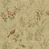 Imperial Green Garden Chinoiserie  wallpaper