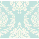 ND7057-Candice Olson Inspired Elegance Aristocrat Light Blue-White Wallpaper