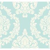 ND7057-Candice Olson Inspired Elegance Aristocrat Light Blue-White Wallpaper