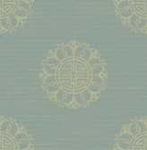 Lien Turquoise Fountain Medallion  wallpaper