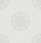 Lien White Fountain Medallion  wallpaper