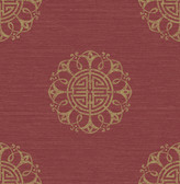 Lien Red Fountain Medallion  wallpaper