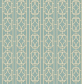 Empire Turquoise Lattice  wallpaper