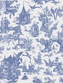Zen Garden Sapphire Toile  wallpaper