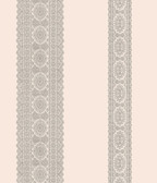 Brynn Grey Paisley Stripe  wallpaper