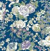 Ainsley Indigo Boho Floral  wallpaper
