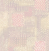 Flower Power Pink Patchwork  wallpaper
