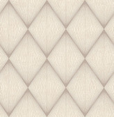 Enlightenment  Taupe Diamond Geometric  Contemporary Wallpaper