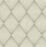 Enlightenment  Light Grey Diamond Geometric  Contemporary Wallpaper