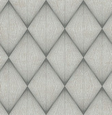 Enlightenment  Charcoal Diamond Geometric  Contemporary Wallpaper
