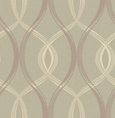 Echo Taupe Lattice   Contemporary Wallpaper