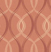 Echo Rust Lattice   Contemporary Wallpaper