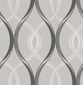 Echo Black Lattice   Contemporary Wallpaper