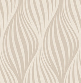 Distinction Beige Ogee  Contemporary Wallpaper