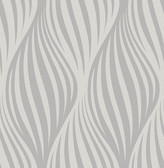 Distinction Charcoal Ogee  Contemporary Wallpaper