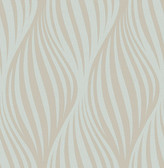 Distinction Aquamarine Ogee  Contemporary Wallpaper