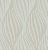 Distinction Aquamarine Ogee  Contemporary Wallpaper