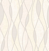 Gyro Cream Swirl Geometric  Contemporary Wallpaper