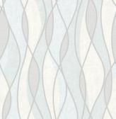 Gyro Light Blue Swirl Geometric  Contemporary Wallpaper