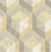 Rustic Wood Tile Honey Geometric